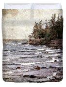 Lake Superior Waves Duvet Cover