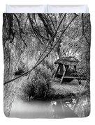 Lake Swing - Black And White Duvet Cover