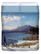 Lake Tahoe Duvet Cover by Albert Bierstadt