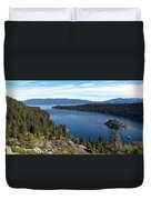 Lake Tahoe Emerald Bay Panorama Duvet Cover