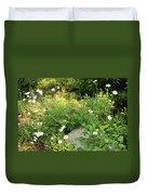 Lake Tahoe Flower Garden Duvet Cover