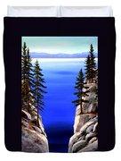 Lake Tahoe Framed Duvet Cover