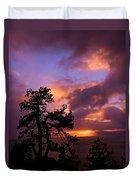 Lake Tahoe Sundown 2 Duvet Cover
