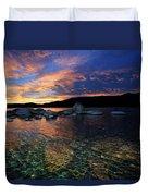 Lake Tahoe Sundown Duvet Cover