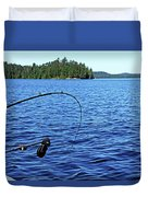 Lake Trout Fishing Duvet Cover