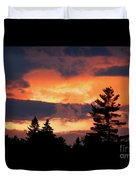 Lake Umbagog National Wildlife Refuge Sunset  Duvet Cover
