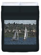 Lake Union Regatta Duvet Cover