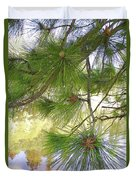 Lake View With Ponderosa Pine Duvet Cover