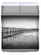 Lake Walkway Duvet Cover by Gary Gillette