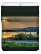 Lake Washington And Route 209 Duvet Cover