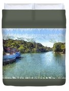 Lake With Islands Duvet Cover
