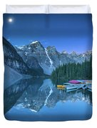 Lake With Moon At Four Am Duvet Cover