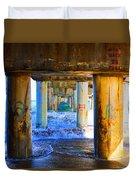Lake Worth, Florida Pier Duvet Cover