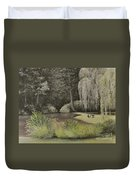 Lakeside At Mountain Playhouse Duvet Cover