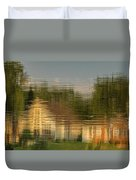 Lakeside Living On Wiggins Lake - Abstract Duvet Cover