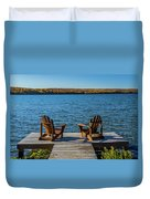 Lakeside Seating For Two Duvet Cover
