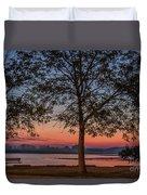 Lakeside Sunrise Duvet Cover