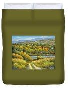 Lakeside Trail In Autumn Duvet Cover
