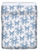 Lalabutterfly Blue Wedgewood Reverse Duvet Cover