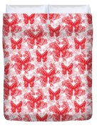 Lalabutterfly Red And White Duvet Cover