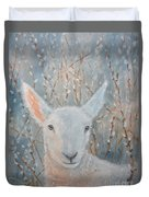 Lamb In The Willows Duvet Cover