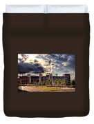 Lambeau Field Awakes Duvet Cover by Joel Witmeyer