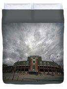 Lambeau Field Clouds Duvet Cover