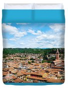 Lamberti Tower View Of Verona Italy Duvet Cover