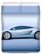 Lamborghini Gallardo 'profile Of Terror' Duvet Cover