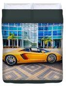 Lamborghini Gold Duvet Cover