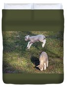 Lambs Frolicking Duvet Cover