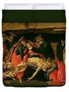 Lamentation Of Christ Duvet Cover