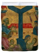 Lamentation Of The Dead Christ Duvet Cover