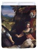 Lamentation Over The Body Of Christ 1517 Duvet Cover
