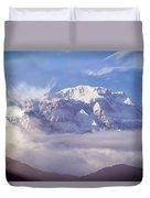 Lamjung Himal Peak Above The Clouds Duvet Cover