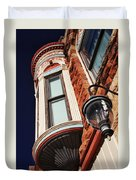 Lamp And Building Details  Duvet Cover
