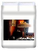 Lamp At Glensheen Duvet Cover