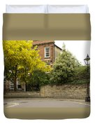 Lamppost On A Street Bend. Duvet Cover