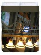 Lamps At The Big C Duvet Cover
