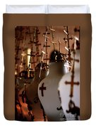 Lamps Inside The Church Of The Holy Sepulchre, Jerusalem Duvet Cover