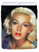 Lana Turner, Hollywood Legend Duvet Cover
