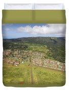 Lanai City Aerial Duvet Cover