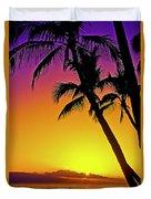 Lanai Sunset II Maui Hawaii Duvet Cover