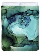 Land And Water Abstract Ink Painting Duvet Cover