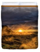 Land Of Fire And Ice Duvet Cover