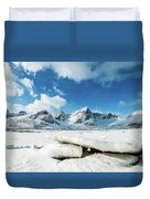 Land Of Ice And Snow Duvet Cover