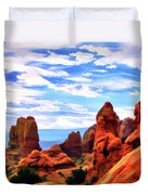 Land Of Moab - Watercolor Duvet Cover