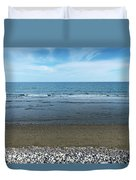 Land Sea And Ocean Background Duvet Cover
