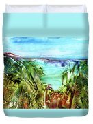 Land Sea And Sky Duvet Cover
