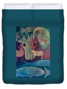 Land, Sea, Sky - We Are Interdependent Duvet Cover